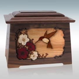 Walnut Hummingbird Astoria - Wood Cremation Urn