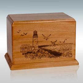 Mahogany Lighthouse - Wood Cremation Urn