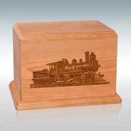 Natural Cherry Train - Wood Cremation Urn
