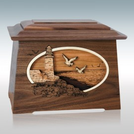 Walnut Sea Coast Astoria - Wood Cremation Urn