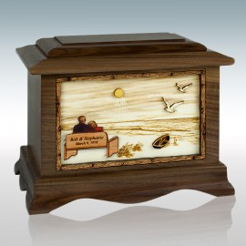 Walnut Soulmates at the Beach Ambassador - Wood Cremation Urn
