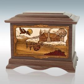 Walnut Cabin Ambassador - Wood Cremation Urn