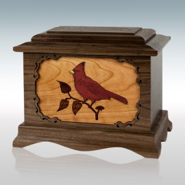 Walnut Cardinal Ambassador - Wood Cremation Urn