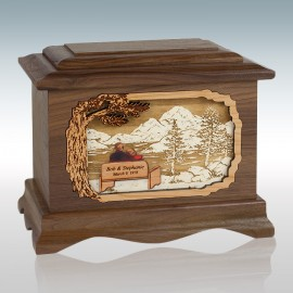 Walnut Soulmates Ambassador - Wood Cremation Urn