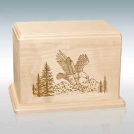 Maple Eagle - Wood Cremation Urn