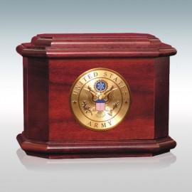 Rosewood Diplomat Military - Wood Cremation Urn